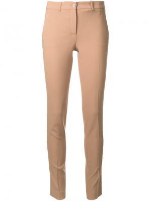 Узкие брюки Michael Kors Collection. Цвет: коричневый