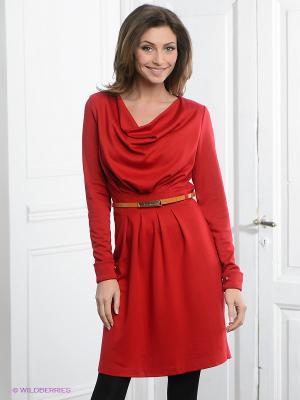 Платье Pura. Цвет: красный