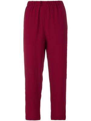 Укороченные строгие брюки Marni. Цвет: розовый и фиолетовый