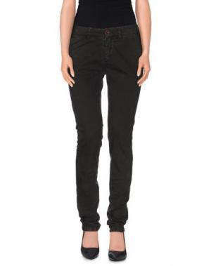 Повседневные брюки REIGN. Цвет: темно-коричневый