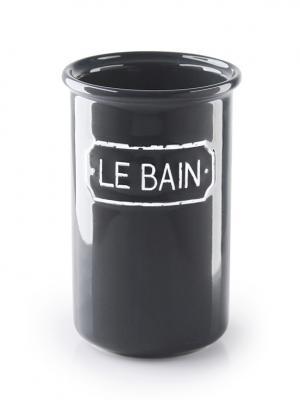 Стакан для зубных щеток Le Bain gris WESS. Цвет: черный, серый