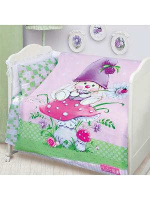 Комплект постельного белья детский Зайка-гномик н(1)40*60 Зайка Ми. Цвет: сиреневый