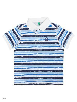 Футболка-поло United Colors of Benetton. Цвет: белый, темно-зеленый, темно-красный, красный