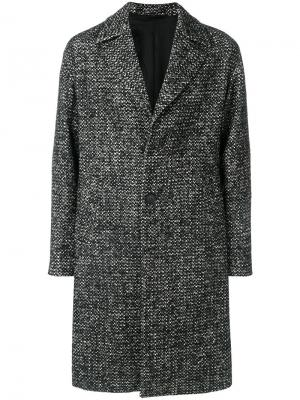 Класическое пальто на пуговицах Hevo. Цвет: чёрный