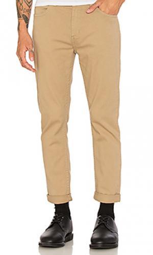 Твиловые брюки rollies ROLLAS ROLLA'S. Цвет: цвет загара