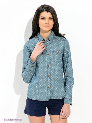 Рубашка Caterpillar. Цвет: серо-голубой