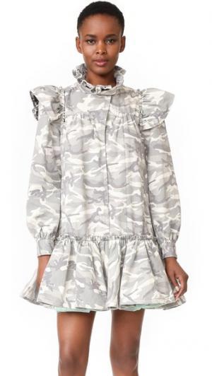 Платье-комбинация с оборками Marc Jacobs. Цвет: белый мульти