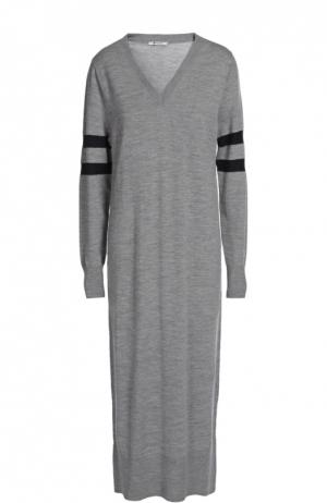 Вязаное платье T by Alexander Wang. Цвет: серый