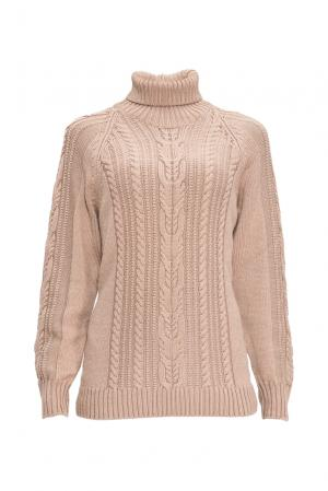 Джемпер из шерсти с шелком 136701 Sweet Sweaters. Цвет: бежевый