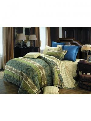 Комплект постельного белья ROMEO AND JULIET. Цвет: темно-синий, оливковый, бежевый