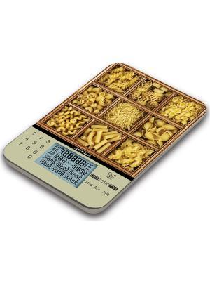 Весы кухонные электронные Supra BSS-4081P макс.вес:5кг желтый/рисунок. Цвет: желтый