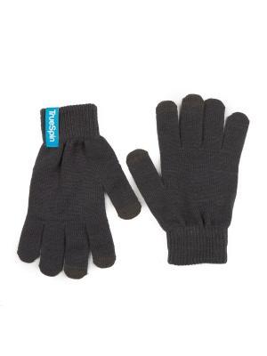 Перчатки TRUESPIN Touch Gloves True Spin. Цвет: серый, темно-серый