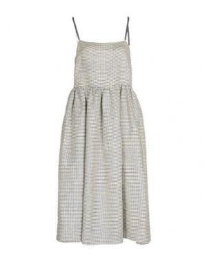Платье длиной 3/4 EDIT. Цвет: синий
