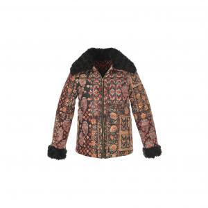 Куртка стеганая короткая с рисунком RENE DERHY. Цвет: рисунок/фон черный
