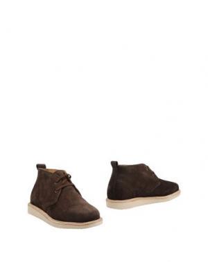 Полусапоги и высокие ботинки BASE. Цвет: темно-коричневый
