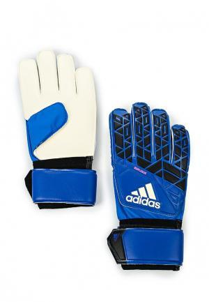 Перчатки вратарские adidas Performance. Цвет: синий
