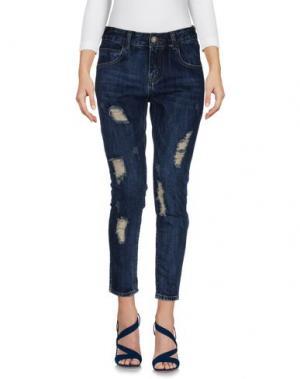 Джинсовые брюки MINUETO. Цвет: синий