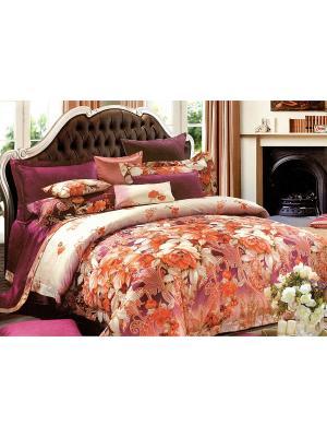 Комплект постельного белья, 1,5 спальный Sofi de Marko. Цвет: бордовый, оранжевый