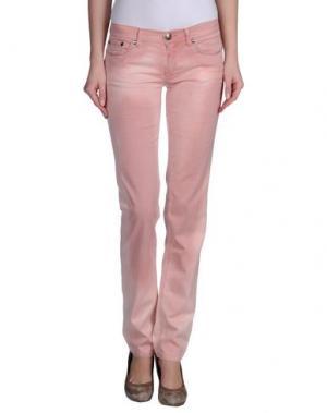 Повседневные брюки LOVE SEX MONEY. Цвет: розовый