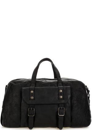 Дорожная сумка из натуральной кожи aunts & uncles. Цвет: черный