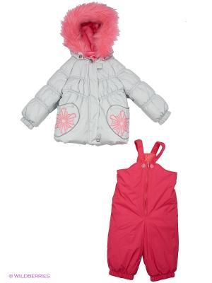 Комплект одежды Kerry. Цвет: серый, розовый