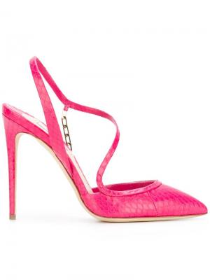 Босоножки Troublan Olgana. Цвет: розовый и фиолетовый