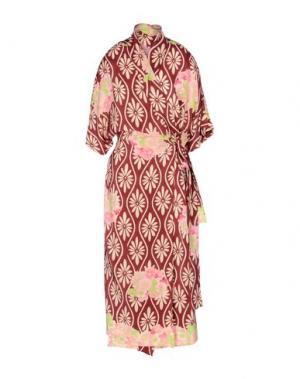 Платье длиной 3/4 SIMONE ROCHA. Цвет: красно-коричневый