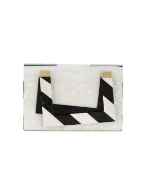 Квадратная сумка Francis Nathalie Trad. Цвет: белый