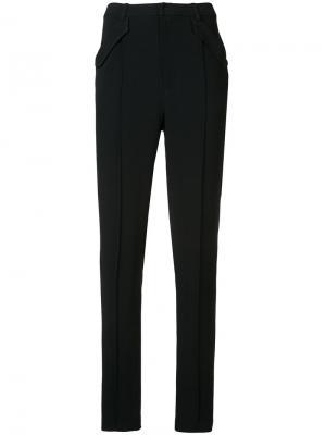 Зауженные строгие брюки Sally Lapointe. Цвет: чёрный