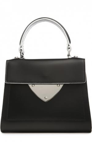 Кожаная сумка B14 Mini Coccinelle. Цвет: черный