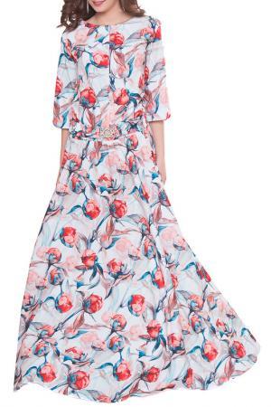 Платье Olivegrey. Цвет: бело-терракотовый