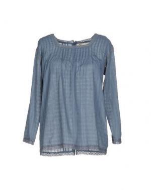 Блузка LOCAL APPAREL. Цвет: грифельно-синий