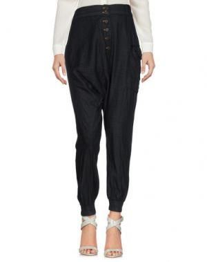 Повседневные брюки POÈME BOHÈMIEN. Цвет: темно-синий