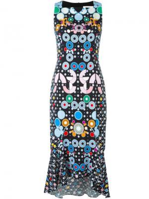 Платье с абстрактным принтом Peter Pilotto. Цвет: чёрный