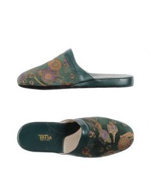 Домашние туфли CREAZIONI MISA. Цвет: зеленый