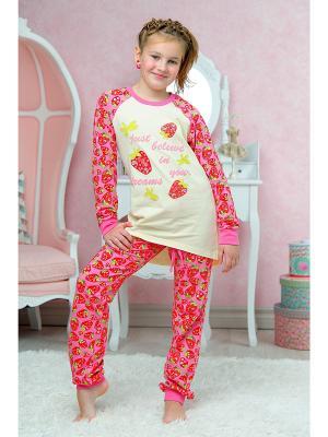 Пижама KitFox. Цвет: бежевый
