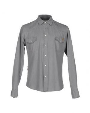 Джинсовая рубашка MELTIN POT. Цвет: серый