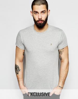 Farah Серая облегающая футболка Farris. Цвет: серый