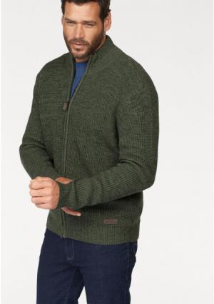 Кардиган MANS WORLD MAN'S. Цвет: серый/зеленый меланжевый