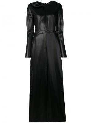 Длинное платье с узлом Nina Ricci. Цвет: чёрный