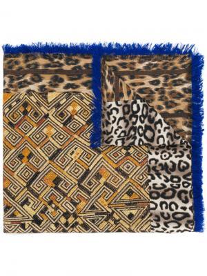 Платок с леопардовым узором Pierre-Louis Mascia. Цвет: телесный