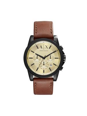 Часы Armani Exchange. Цвет: черный, коричневый, золотистый, желтый