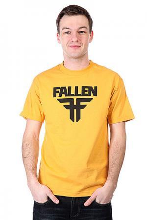 Футболка  Insignia Logo Must/Black Fallen. Цвет: желтый