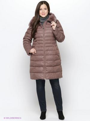Пальто Vlasta. Цвет: светло-коричневый