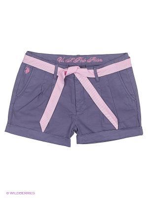 Шорты U.S. Polo Assn.. Цвет: бледно-розовый, белый, серый