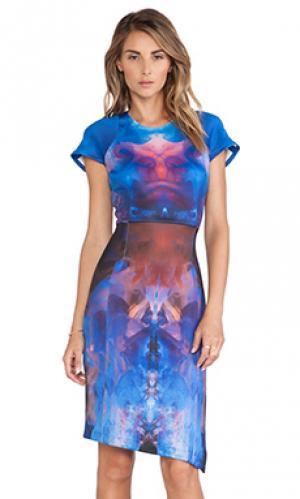 Платье с рукавами-фонариками Ringuet. Цвет: синий