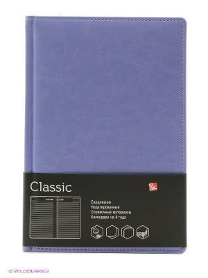 Ежедневник А5, недатированный 152 листа, CLASSIC сиреневый Канц-Эксмо. Цвет: сиреневый