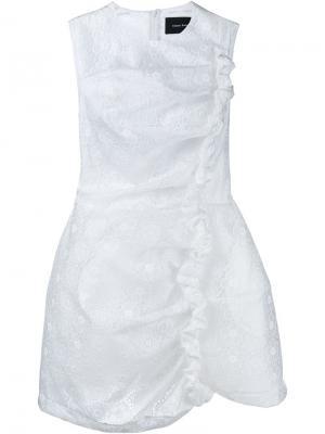 Платье мини Simone Rocha. Цвет: телесный