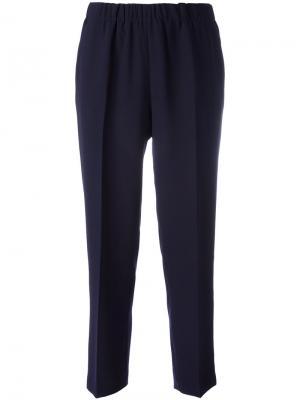 Укороченные брюки с завышенной талией Kiltie. Цвет: синий