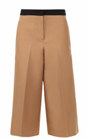 Укороченные широкие брюки со стрелками No. 21. Цвет: бежевый